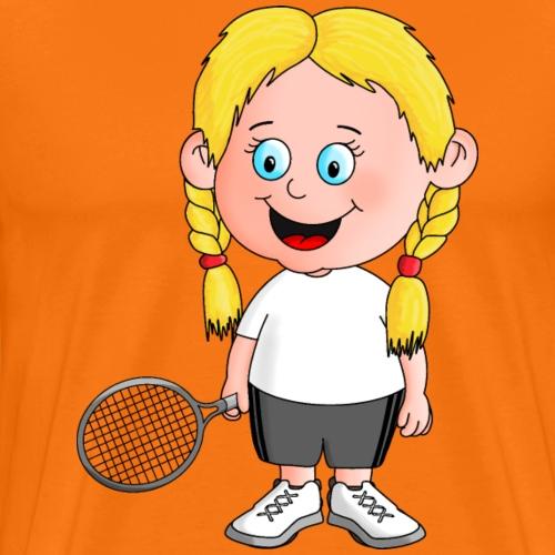 Süße Tennisspielerin - Männer Premium T-Shirt