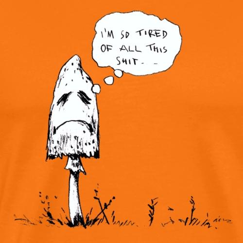 depressiver Pilz / fungi fun - Männer Premium T-Shirt