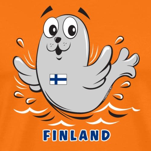 01-05 KUUTTI-SAIMAANNORPPA, Suomi, Lahjatuotteet - Miesten premium t-paita