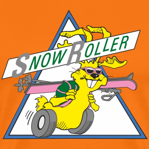 SnowRoller logo - Premium-T-shirt herr