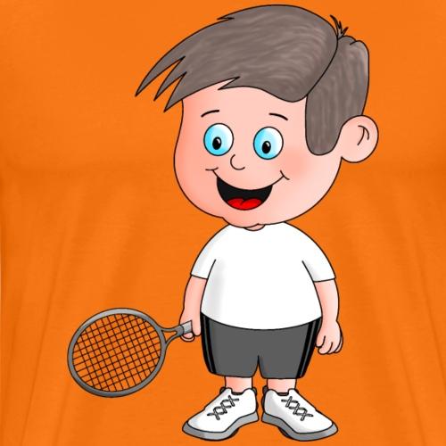 Junger Tennisspieler - Männer Premium T-Shirt