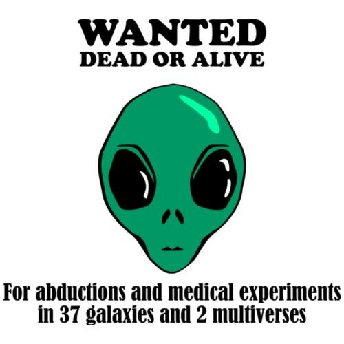 Alien Wanted Poster - Men's Premium T-Shirt
