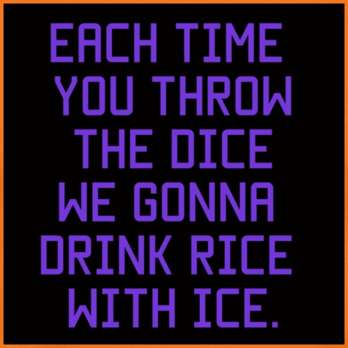 Rice with ice. - Mannen Premium T-shirt