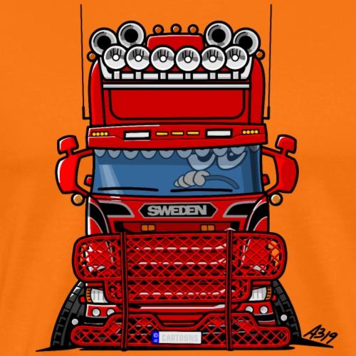 0777 RED TRUCK SWEDEN - Mannen Premium T-shirt