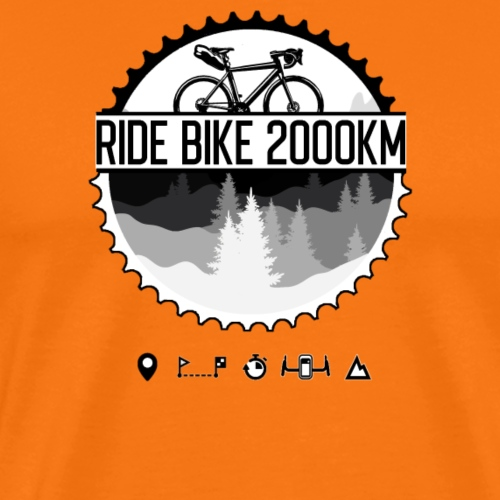 Ride Bike 2000Km - T-shirt Premium Homme