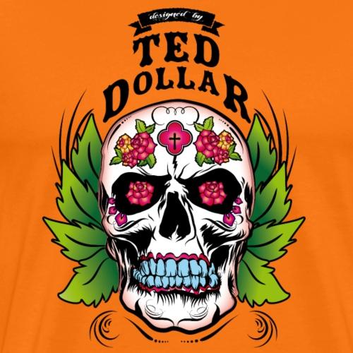 Skull roses - T-shirt Premium Homme