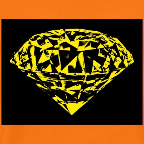 yellow diamond - Mannen Premium T-shirt