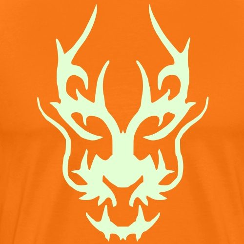 black_dragon_face - Männer Premium T-Shirt
