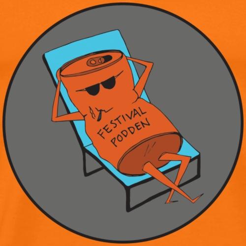 Festivalpodden - Loggan - Premium-T-shirt herr