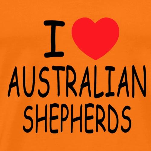 I love Australian Shepherds - Männer Premium T-Shirt