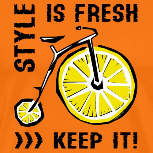 STYLE IS FRESH BICYCLE - Cool Textiles and Gifts - Miesten premium t-paita