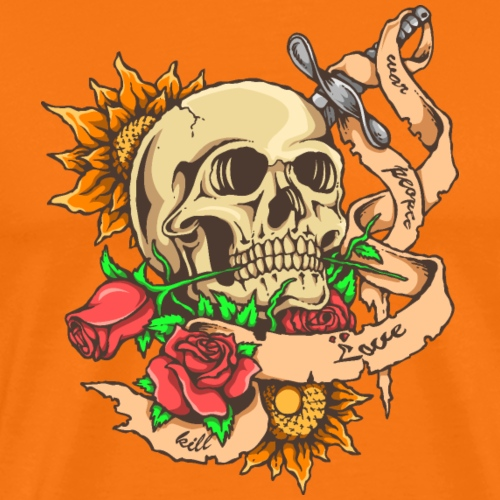 Crâne tatouage - T-shirt Premium Homme