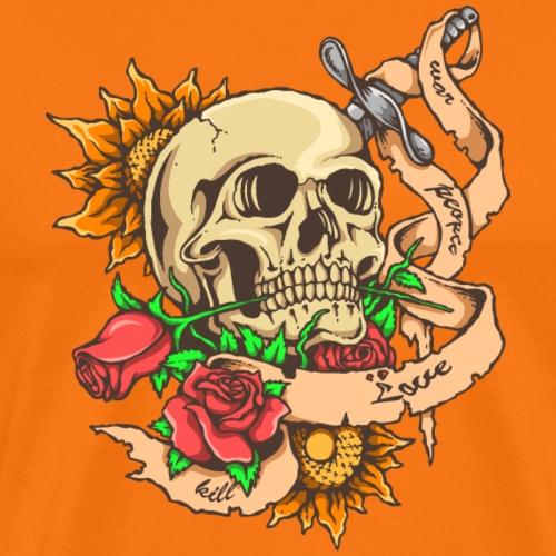 Schädel-Tattoo - Männer Premium T-Shirt