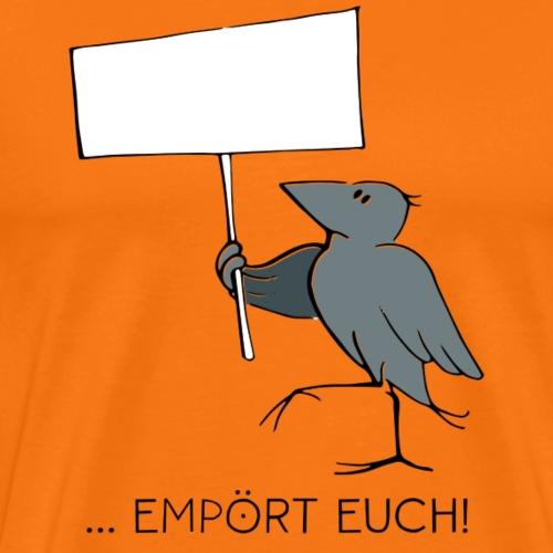 Urbane Krähe Empört euch! - Männer Premium T-Shirt