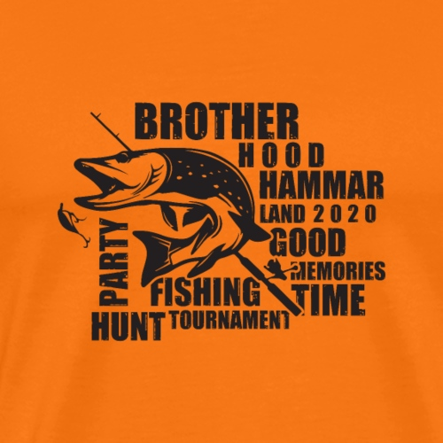 Pikefishing Black - Premium-T-shirt herr