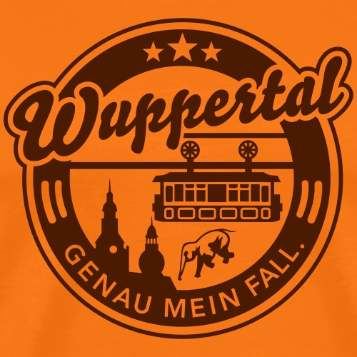 Wuppertal - genau mein Fall. - Männer Premium T-Shirt