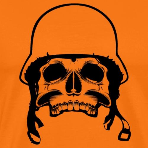 Soldier Helmet Skull 1c - Men's Premium T-Shirt