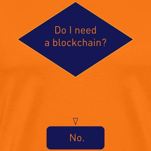 Blockchain Flowchart - Männer Premium T-Shirt