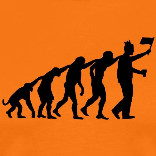 Evolutie koninginnedag - Queensday, Beatrix, - Mannen Premium T-shirt