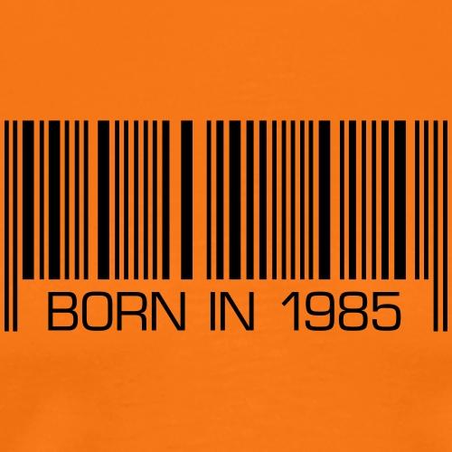 Barcode born in 1985 birthday 30 Geburtstag - Men's Premium T-Shirt