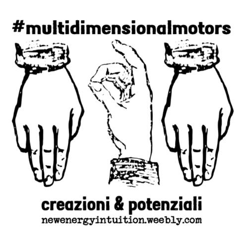 logo #MultiDimensionalMotors con segni mano - Maglietta Premium da uomo