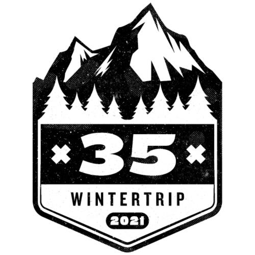 35 ✕ WINTERTRIP ✕ 2021 • BLACK - Mannen Premium T-shirt