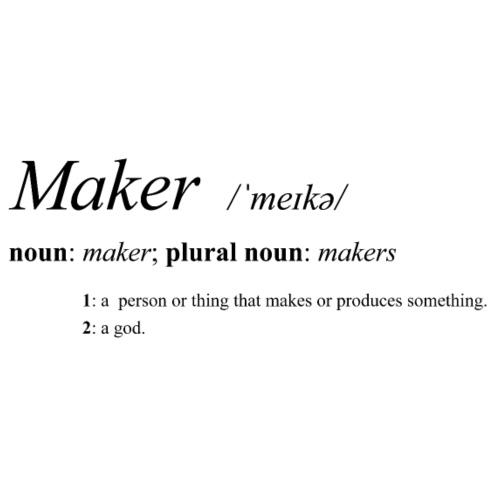 Maker definition. - Men's Premium T-Shirt