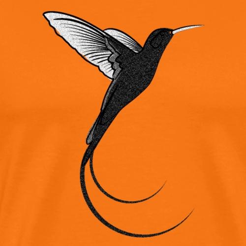 Kolibri design black sand - Männer Premium T-Shirt
