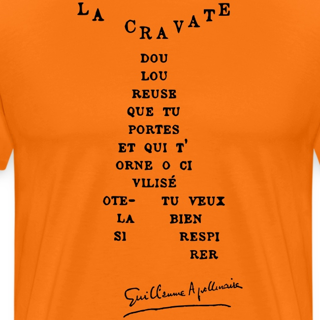 Calligramme Cravate Apollinaire