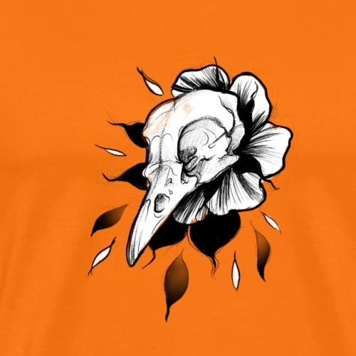 crow skull - Koszulka męska Premium