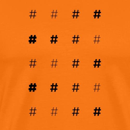Muster mit Hashtags - Männer Premium T-Shirt