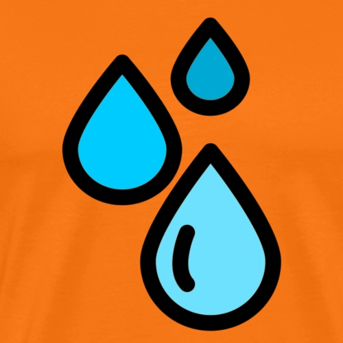 Gotas de Agua - Camiseta premium hombre