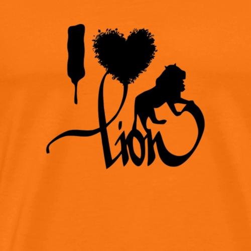 I HEART LION - Maglietta Premium da uomo