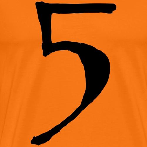 fünf five zahl 5 - Männer Premium T-Shirt