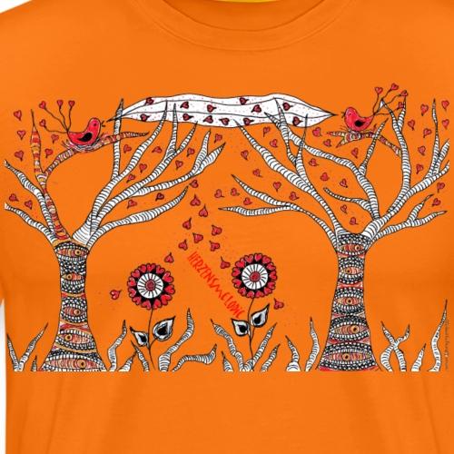 S´Vogerl sei HerzensMelodie - Männer Premium T-Shirt