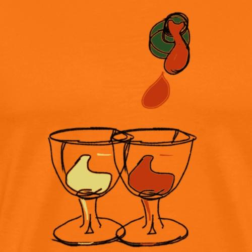 Bottle of wine glasses - Men's Premium T-Shirt