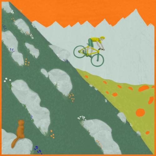 Freiraum_Mountainbike - Männer Premium T-Shirt
