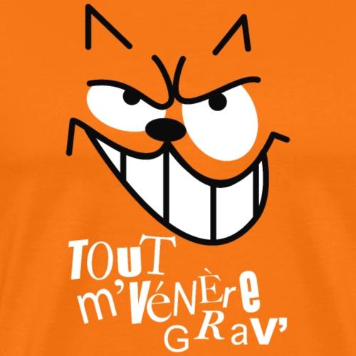 CHAT TOUT M'ENERVE GRAVE - T-shirt Premium Homme