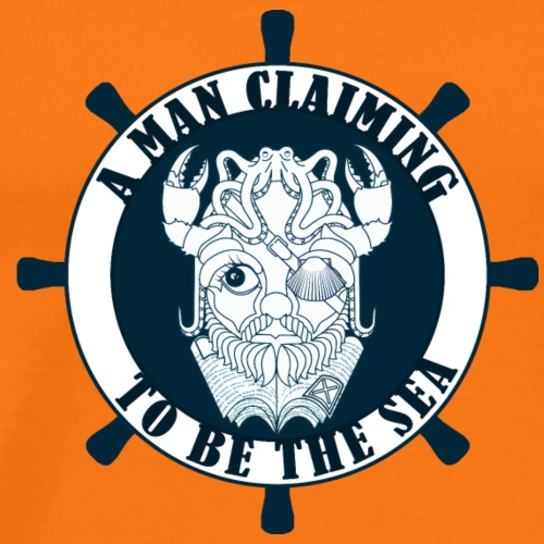 A man claiming to be the sea - Camiseta premium hombre