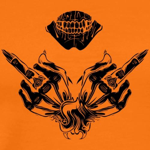 Demon showing fuck - Men's Premium T-Shirt