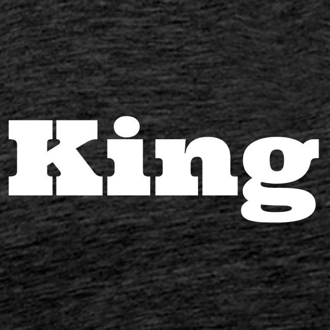 Snapback king blauw/rood
