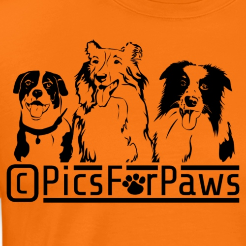 Pics For Paws Logo - Men's Premium T-Shirt