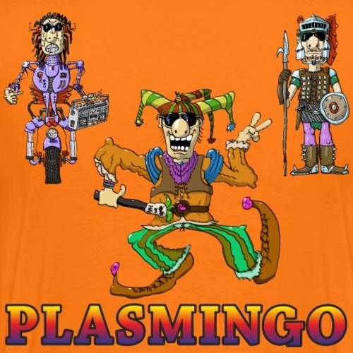 Plasmingo - Disco Balls - Joker, Knight, Robot - Premium-T-shirt herr