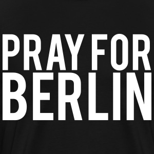 Pray for Berlin. Beds for Berlin - Men's Premium T-Shirt