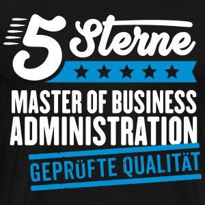 5Sterne Master of Business Administration - Männer Premium T-Shirt