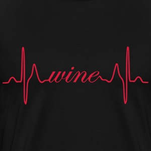 Wine heartbeat ECG - Men's Premium T-Shirt