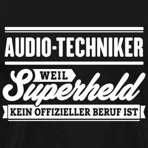 Superheld Audio-Techniker - Männer Premium T-Shirt