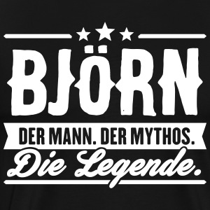 Man Myth Legend Björn - Men's Premium T-Shirt