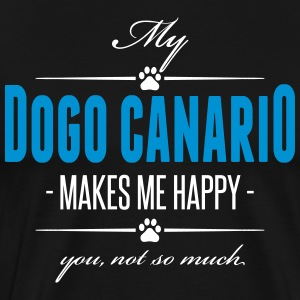 My Dogo Canario makes me happy - Männer Premium T-Shirt