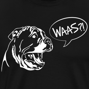 Waas?! - English Bulldog Welpe - Männer Premium T-Shirt